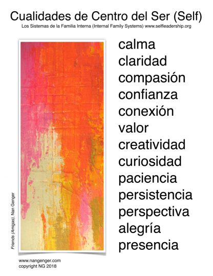 IFS Self Qualities Poster (Spanish), Nan Genger
