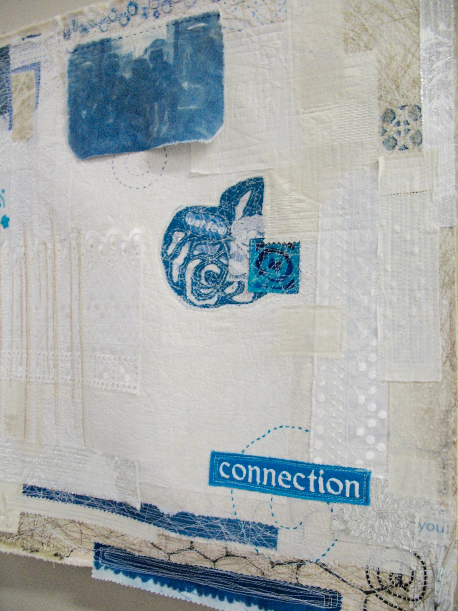 "Connection, 23"" x 23"" Nan Genger"