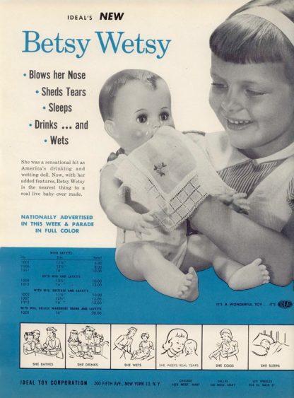 betsy wetsy 1950's ad, Nan Genger