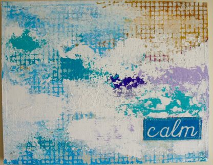 "Calm, 14"" x 11"" x ¾"" on wood board, Nan Genger"