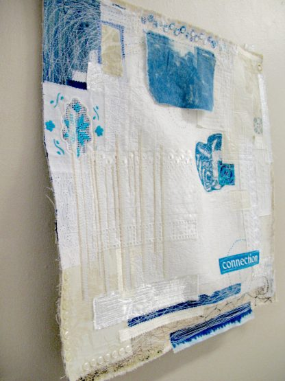 Connection, fabric collage, Nan Genger