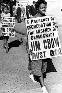 Feb. 1, 1962 - Atlanta, Ga.: Atlanta University students picket against segregation at the Georgia State Capitol.