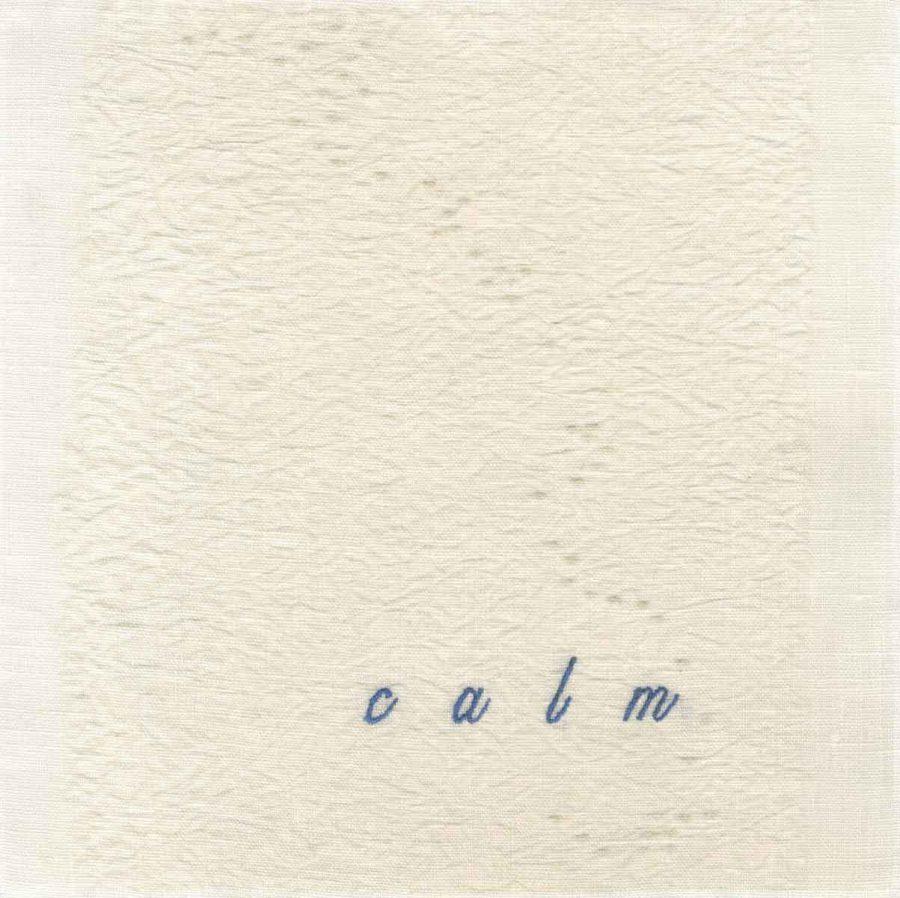 "calm (embroidery), 6"" x 6"" x ¾,"" Nan Genger, 2016"