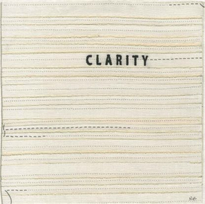"""clarity (embroidery), 6"""" x 6"""" x ¾,"""" Nan Genger, 2016"""