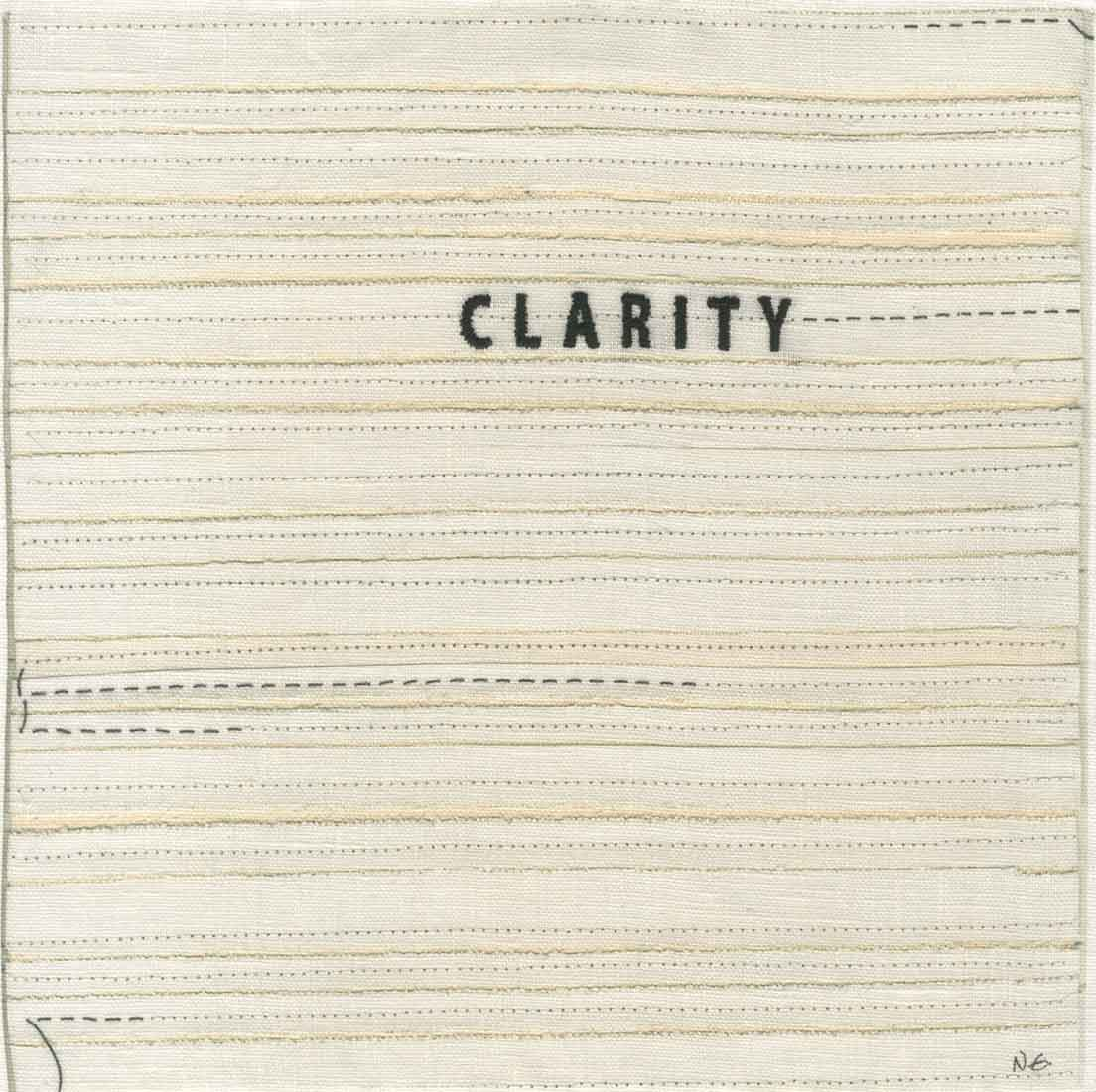 "clarity (embroidery), 6"" x 6"" x ¾,"" Nan Genger, 2016"