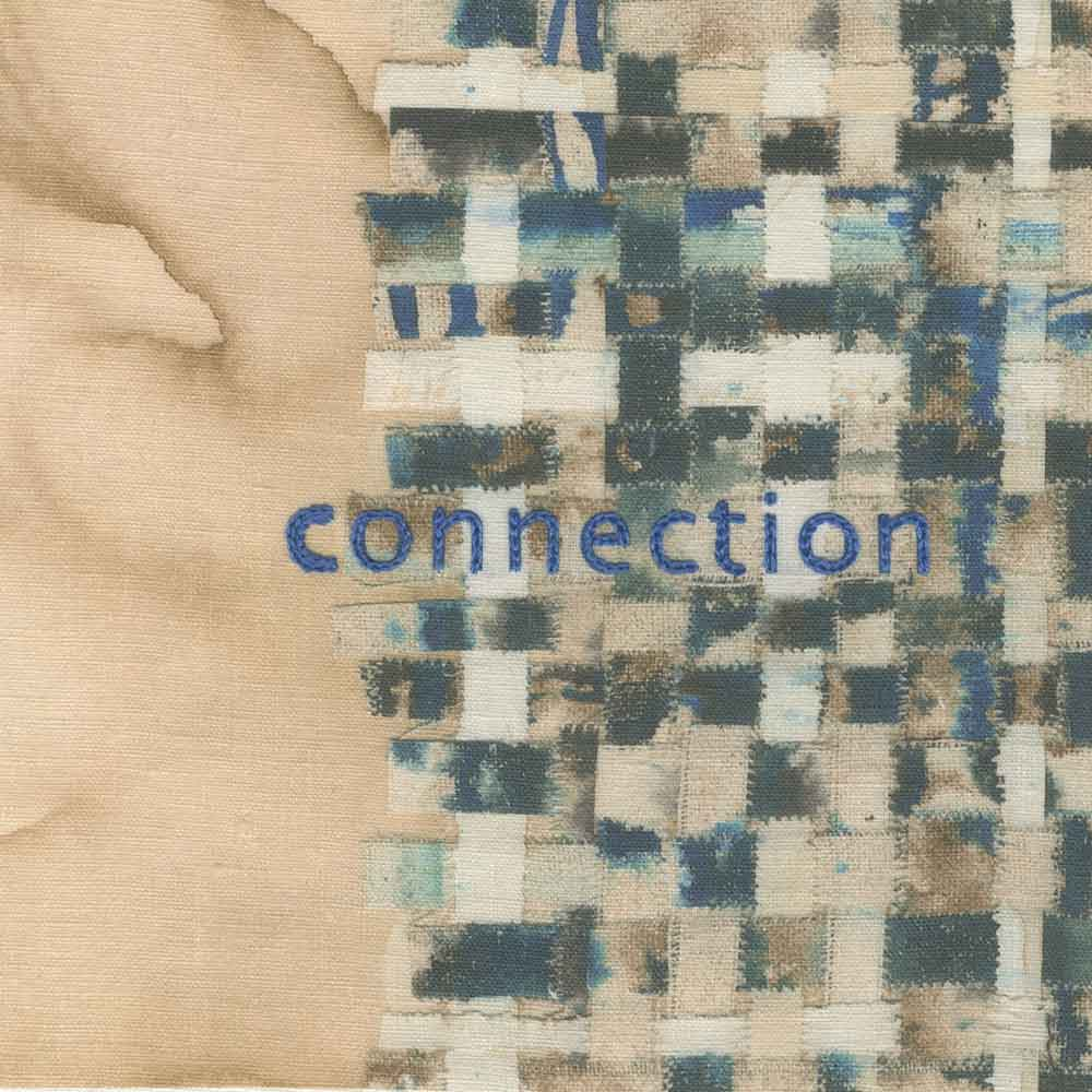 "connection (embroidery), 6"" x 6"" x ¾,"" Nan Genger, 2016"