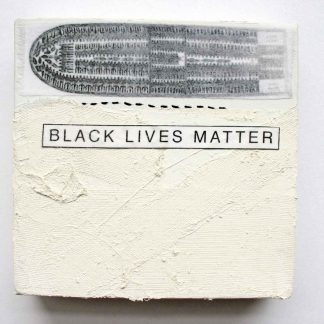 "Middle Passage: Black Lives Matter, 6"" x 6"" x 1.5,"" Nan Genger, 2015"
