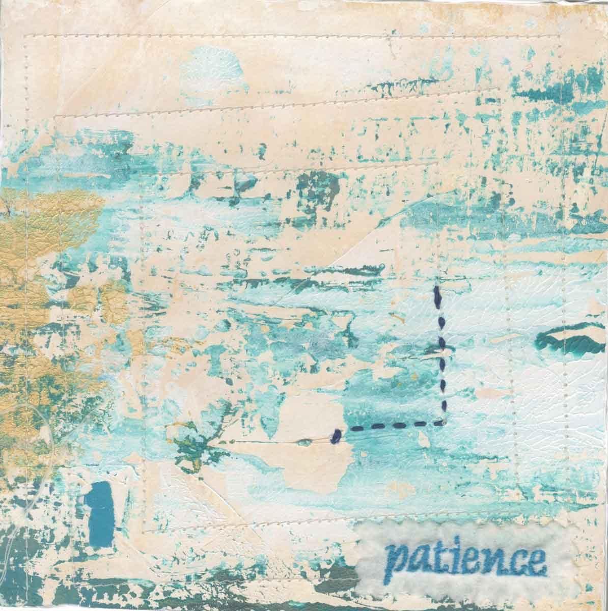 "patience, 6"" x 6"" x ¾,"" Nan Genger, 2016"
