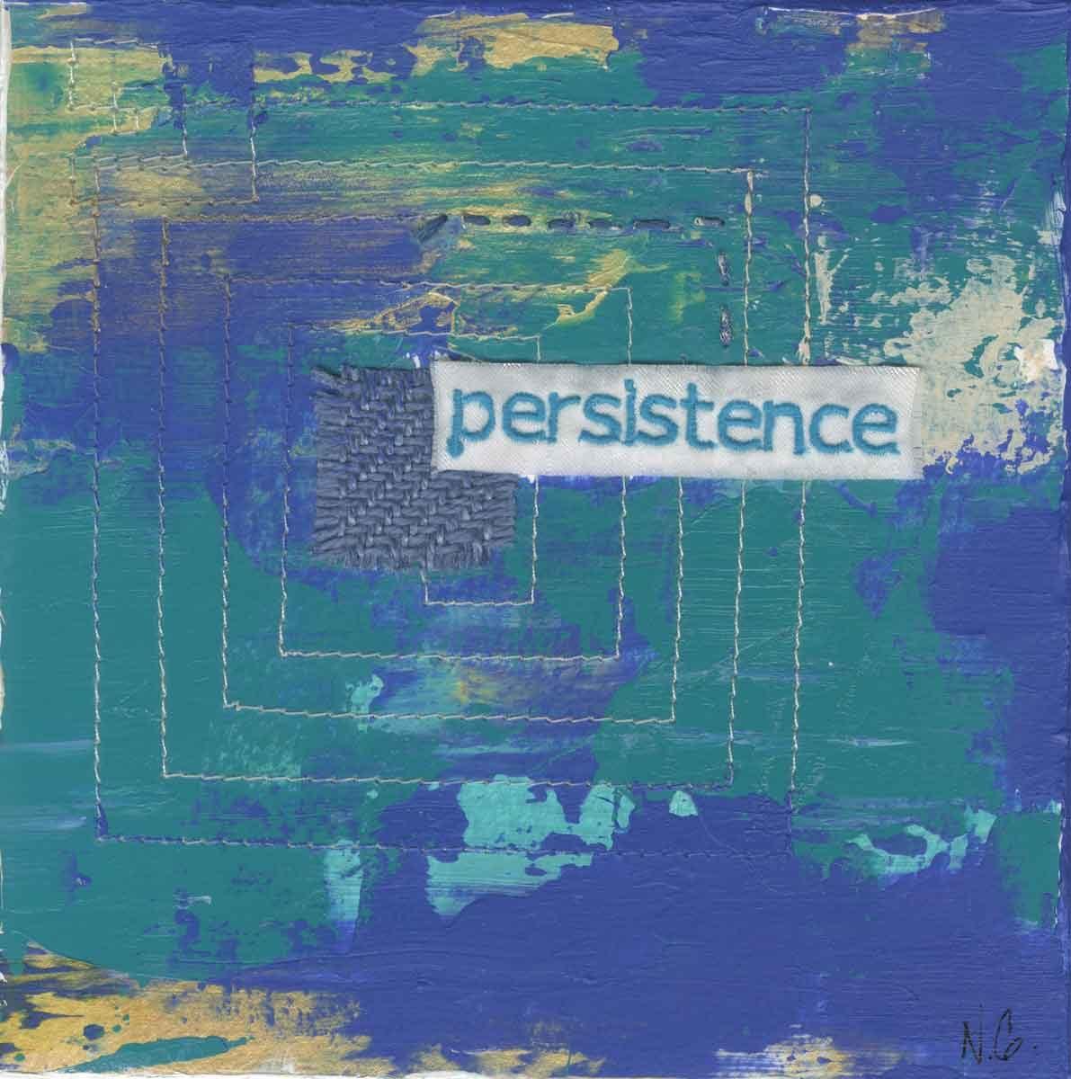 "persistence, 6"" x 6"" x ¾,"" Nan Genger, 2016"