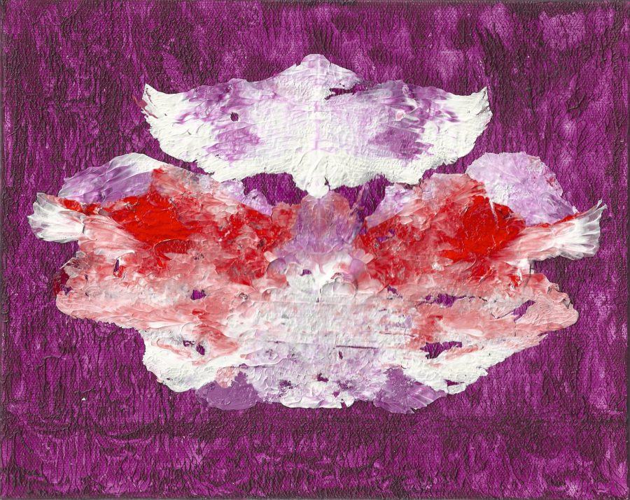 "Transformation Violet#1, Nan Genger 8"" x 10"" x ⅞"" deep"