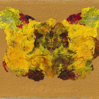 "Transformation Yellow#2, Nan Genger 8"" x 10"" x ⅞"" deep"